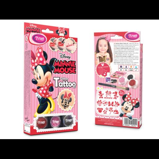 TyToo - Disney - Minnie Egér csillámtetoválás szett