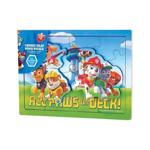 Mancs őrjárat - Fa puzzle - 18 db-os