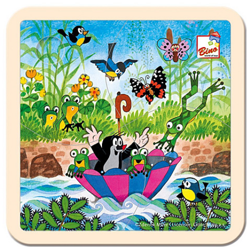 Kisvakond utazik fa bébipuzzle 4 db-os
