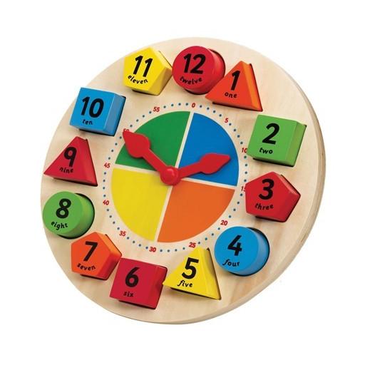 Tidlo - Fajáték - Mágneses fa formaberakó tanuló óra