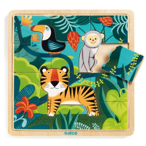 Djeco - Képkirakó - Dzsungel puzzle