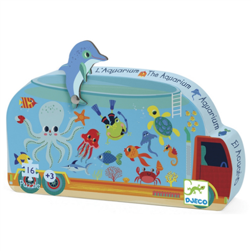Djeco - Mini puzzle - Mozgó akvárium