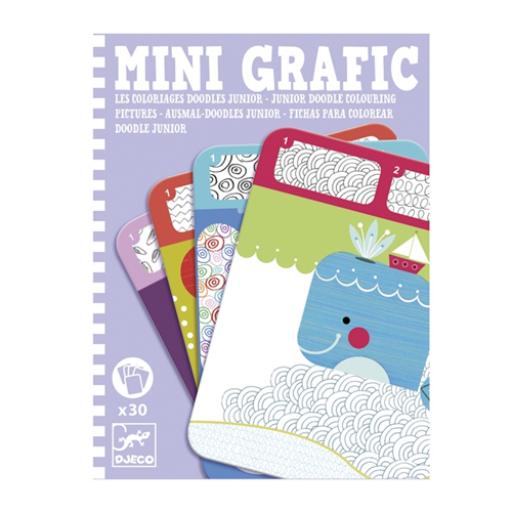 Djeco - Mini grafika - Színes mintázatok