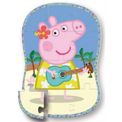 Peppa malac - Formapuzzle - Peppa gitározik - 12 db-os