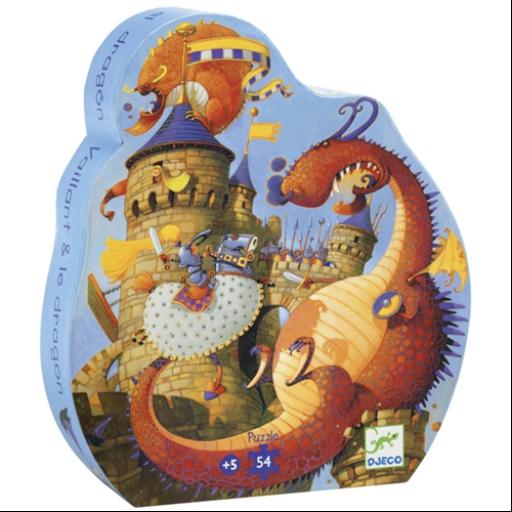 Djeco - Formadobozos puzzle - Vaillant és a sárkány