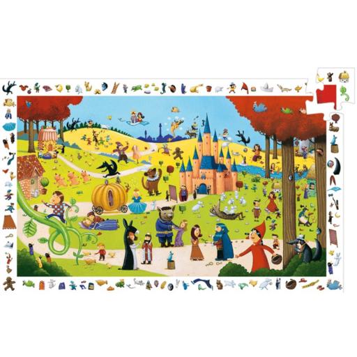 Djeco - Megfigyeltető puzzle - Mesék, 54 db-os