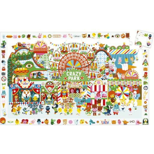 Djeco - Megfigyeltető puzzle - Vidámpark, 35 db-os
