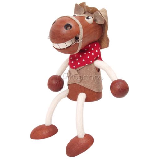 Fajáték - Rugós figura - lófiú