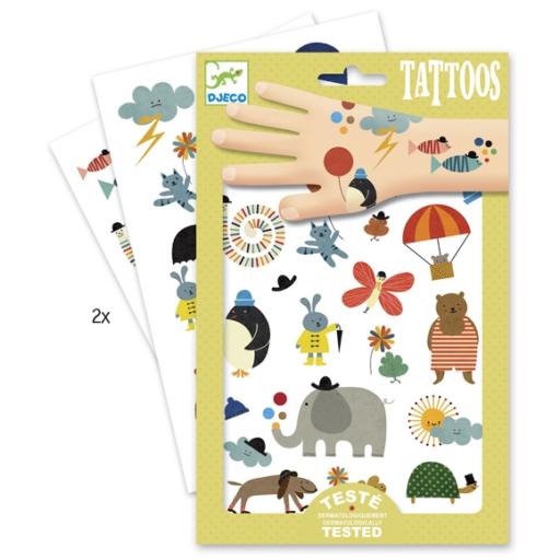 Djeco - Tetováló matricák - Cuki dolgok