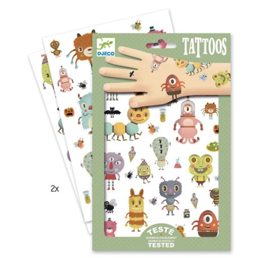 Djeco - Tetováló matricák - Szörnyecskék