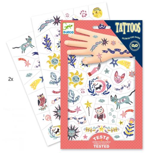 Djeco - Tetováló matricák - Édes álom
