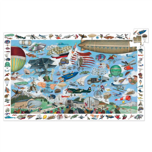 Djeco - Megfigyeltető puzzle - Repülő klub - 200 db-os