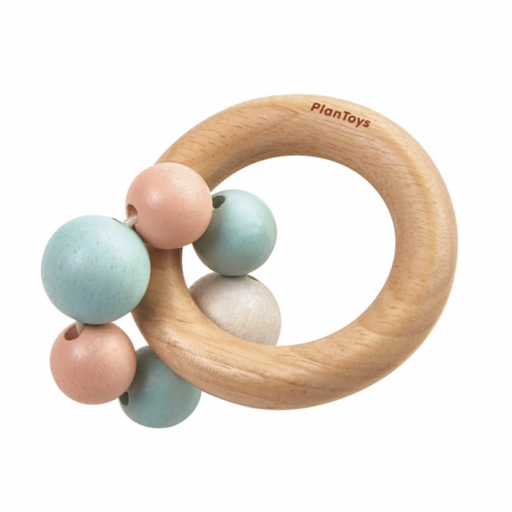 Plan Toys - Gyöngyös csörgő – pasztell