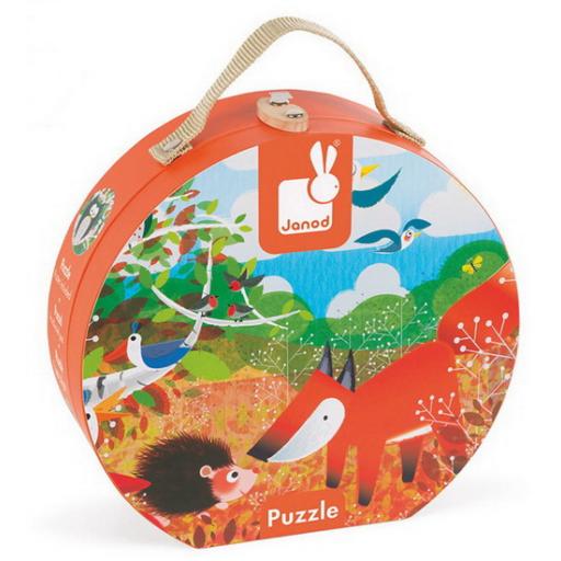 Janod - Erdő puzzle bőröndben - 24 darabos