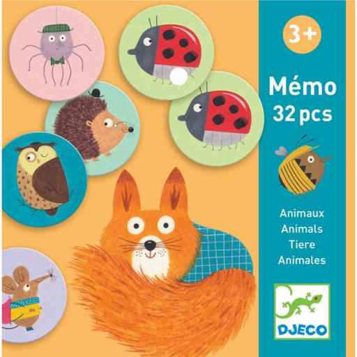Djeco - Memóriajáték - Állatok