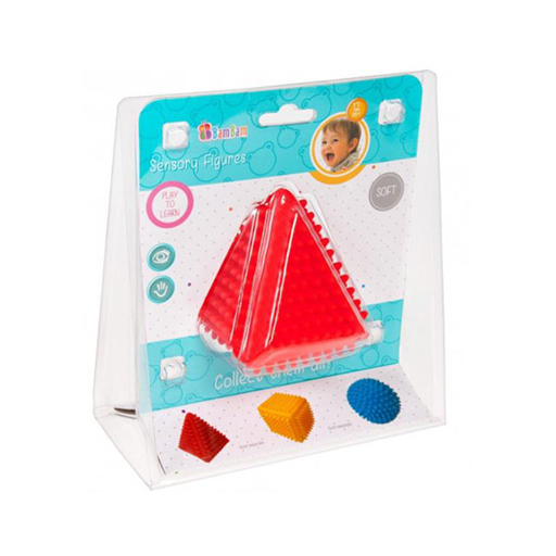 B-toys - Tapintásfejlesztő bébi piramis