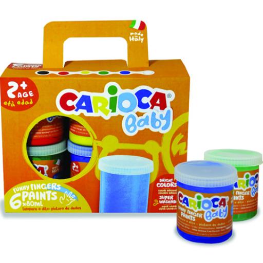 Carioca - Baby lemosható ujjfesték 6 db-os szett