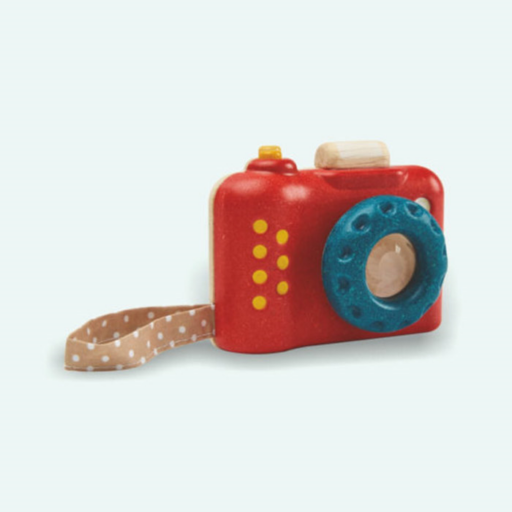 Plan Toys - Első fényképezőgépem – öko fa játékfényképező
