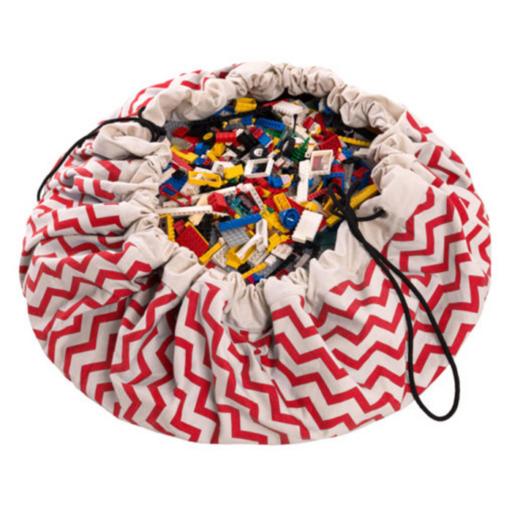 Play&Go - Játéktároló zsák – zigzag piros