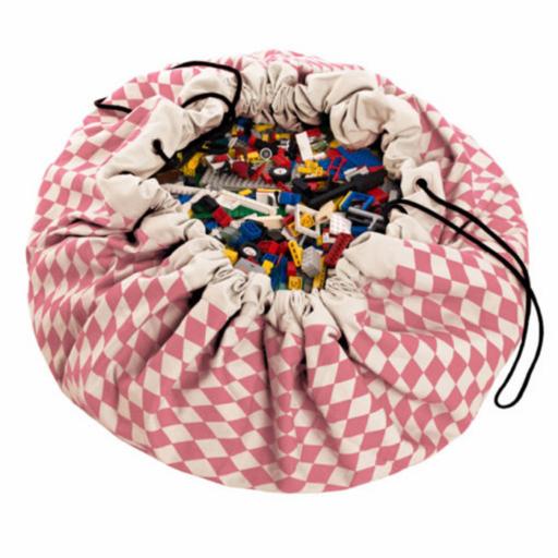 Play&Go - Játéktároló zsák – rombusz rózsaszín