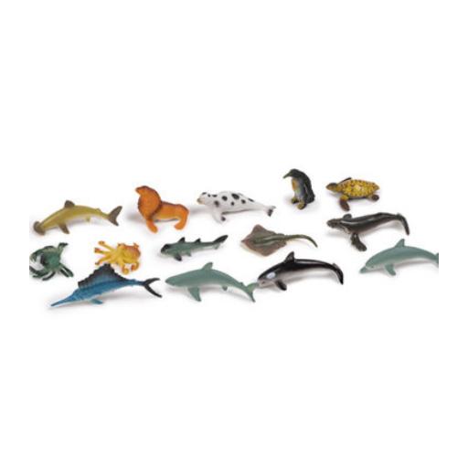 Óceán állatai figurák - 14 db-os készlet