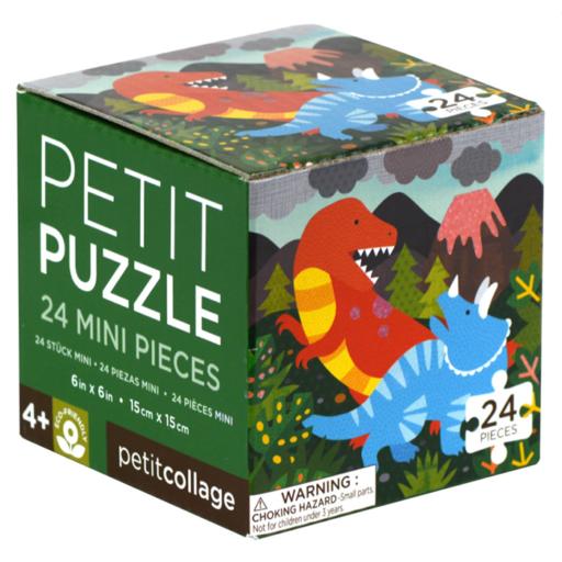 Petit Collage 24 darabos mini puzzle – dino