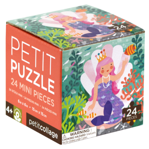 Petit Collage 24 darabos mini puzzle – hableány