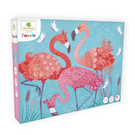 Puzzle - Flamingók - 100 db-os