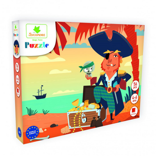 Puzzle - Kalózok - 56 db-os