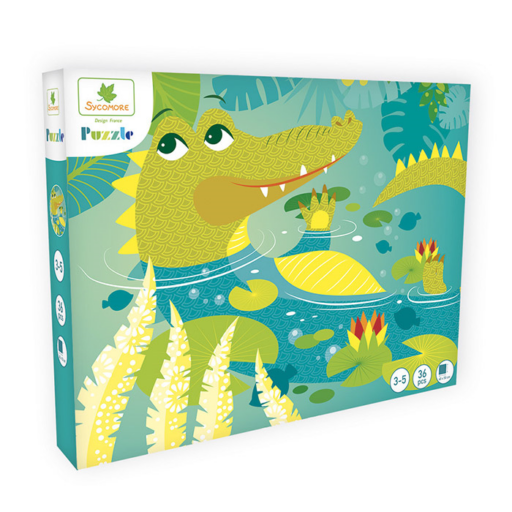 Puzzle - Krokodil - 36 db-os