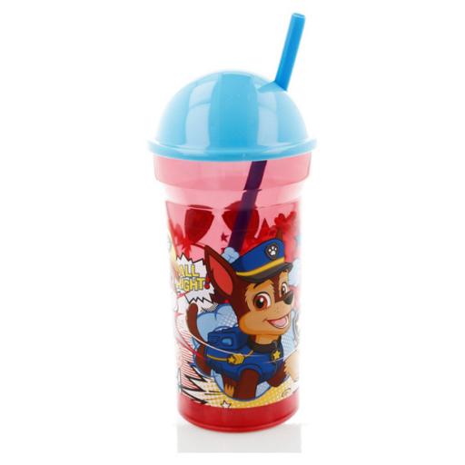 Mancs Őrjárat - BPA Mentes kulacs, szívószállal - 460 ml
