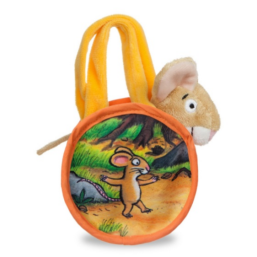 Graffaló plüss egér táskában - 18 cm