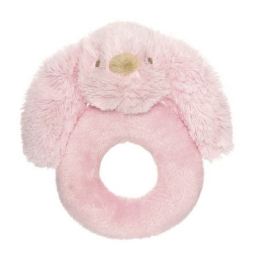Teddykompaniet - Lolli nyuszi rózsaszín csörgő - 14 cm