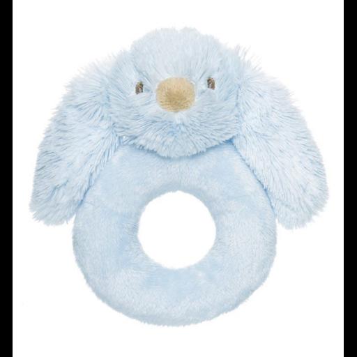 Teddykompaniet - Lolli nyuszi kék csörgő - 14 cm