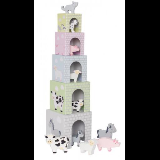Jabadabado - Toronyépítő kocka háziállatokkal