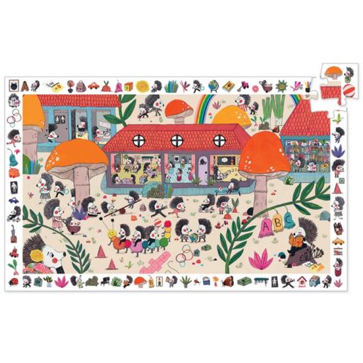 Djeco - Képkereső puzzle - Süniiskola,  35 db-os
