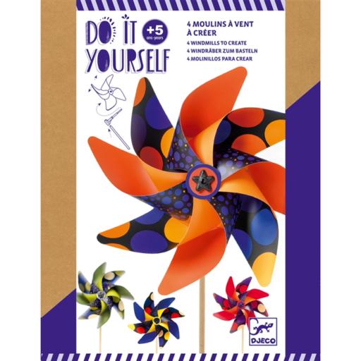 Djeco - Csináld magad! szélforgók kreatív készlet