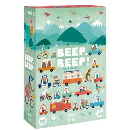 Londji - Beep, beep kereső puzzle - 48 db-os