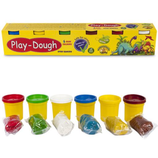 Play-Dough - 6 db-os nagy gyurmaszett