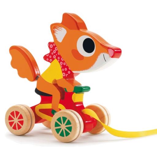 Djeco - Húzható játék - Felderítő mókus