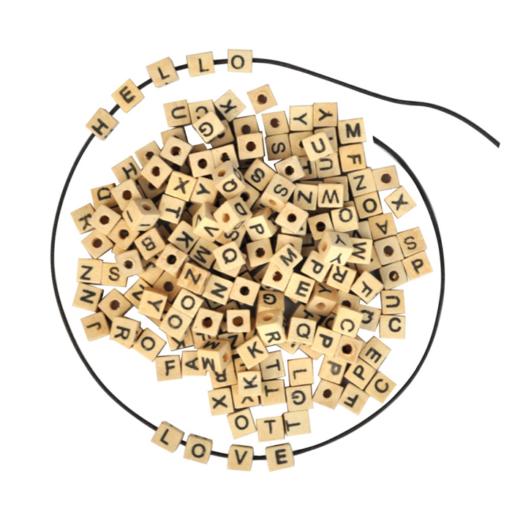 Playbox - Fa gyöngy betűk - 300 db