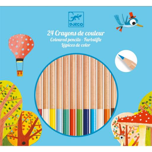 Djeco - Színes ceruza készlet - 24 db