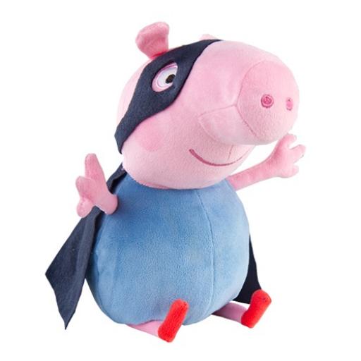 Peppa malac plüss figura - George, a szuperhős - 28 cm