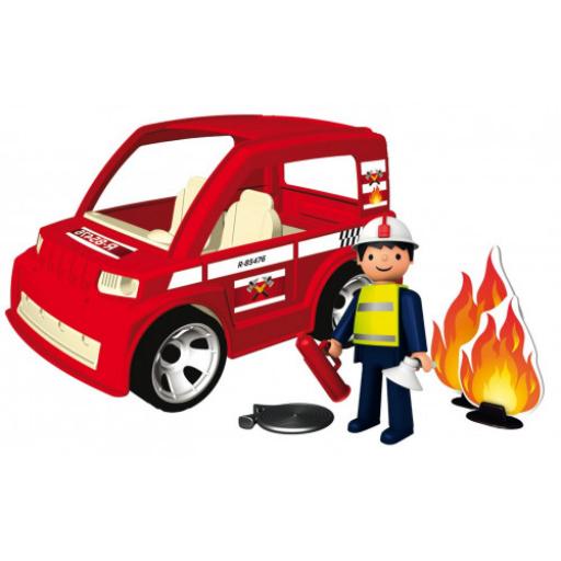 Igracek - Tűzoltóautó tűzoltóval, eszközökkel