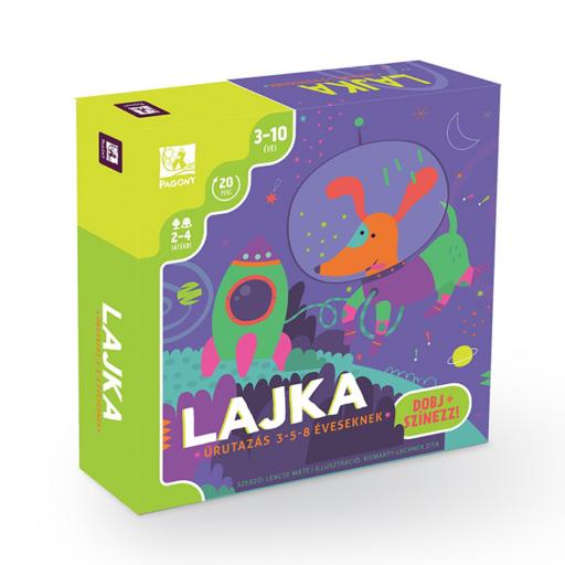 Lajka - Űrutazás - Dobj és színezz! társasjáték