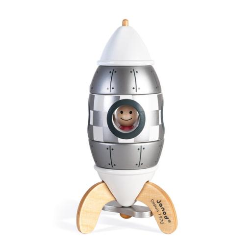 Janod - Ezüst mágneses összerakható rakéta
