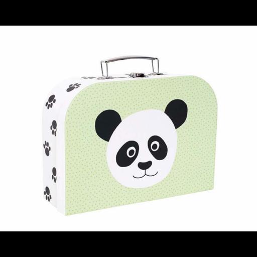 Tároló és játékbőrönd - panda és oroszlán