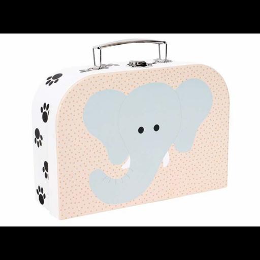 Tároló és játékbőrönd - elefánt és tigris