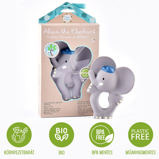 Alvin elefánt rágóka természetes gumiból