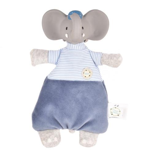 Alvin elefánt baba és rágóka természetes gumiból és pamutból